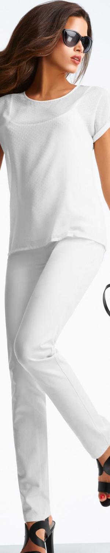 Madeleine White Skinny Jeans