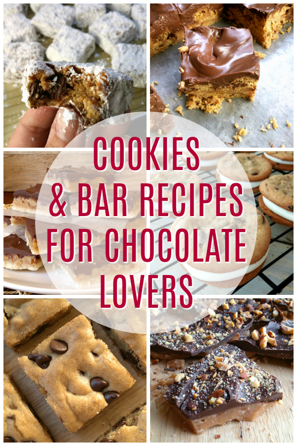 Easy recipes for cookies and bars that every chocolate lover will flip for! This collection is perfect for holiday baking... especially Christmas and Valentine's Day!
