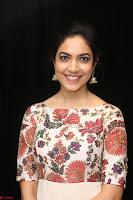 Ritu Varma smiling face Cream Anarkali dress at launch of OPPO New Selfie Camera F3 ~  Exclusive 009.JPG