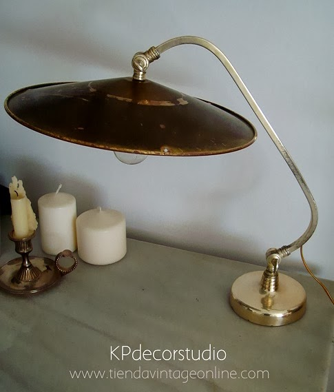 Comprar flexo de mesa antiguo para mesita auxiliar o iluminar recibidor de casa