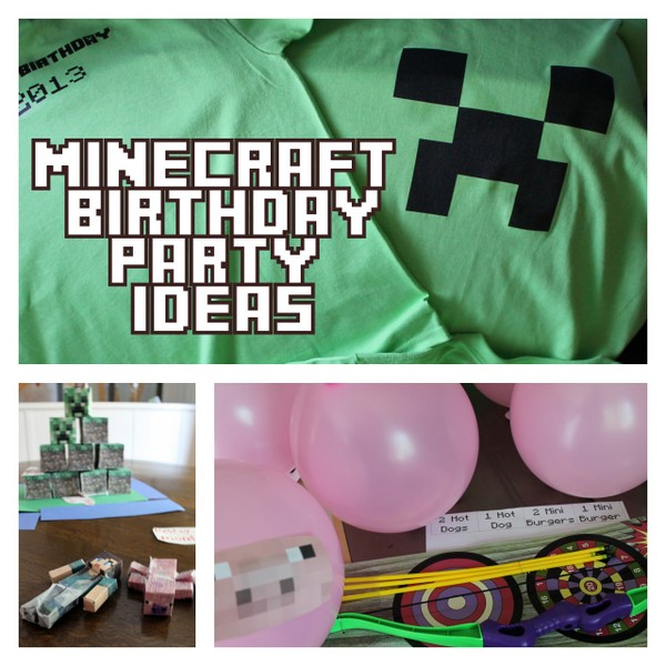 minecraft printable and minecraft craft party