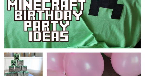 minecraft party craft ideas minecraft birthday printables crafts and 4962