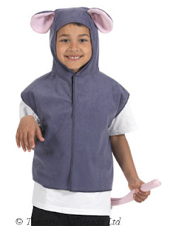 Christmas Mouse Kids One Size Tabard Costume from Theatrical Threads Ltd