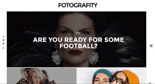 Fotografity шаблон blogger для портфолио 2016