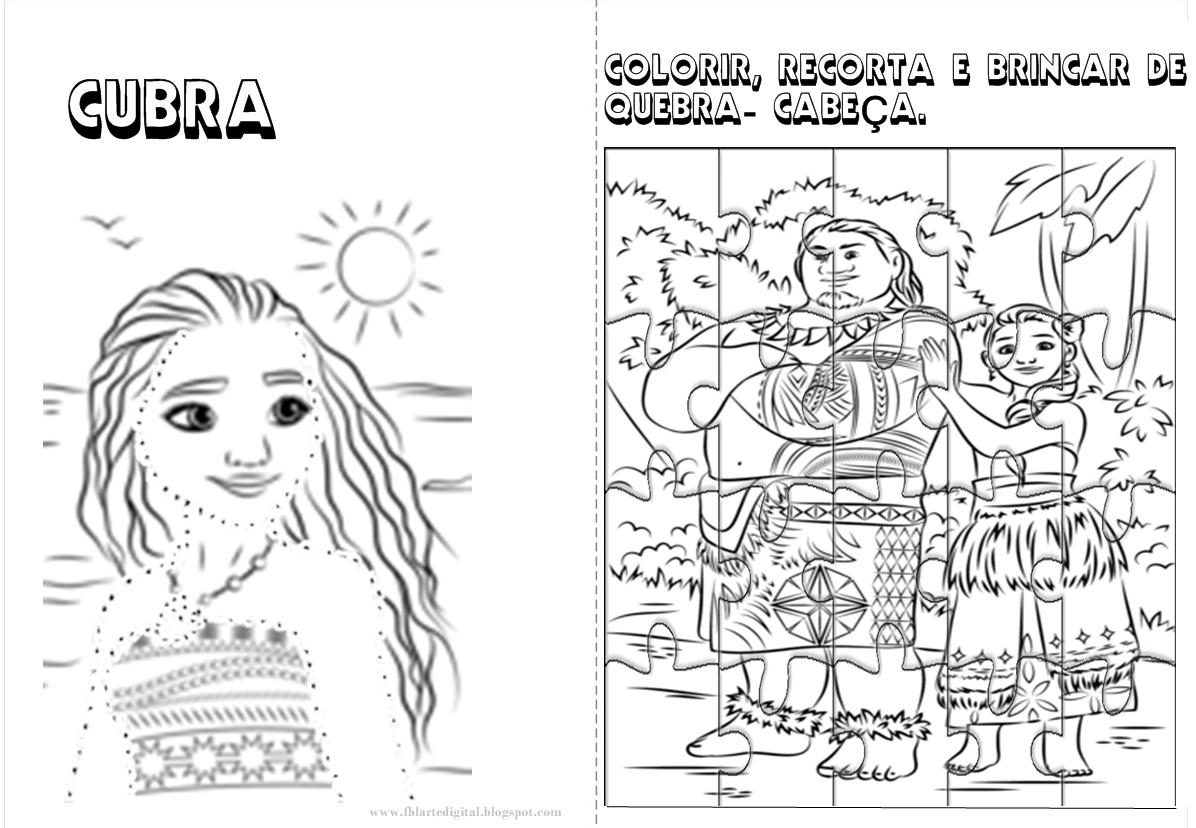 Livrinho Para Colorir Moana Grtis Para Imprimir Livro De