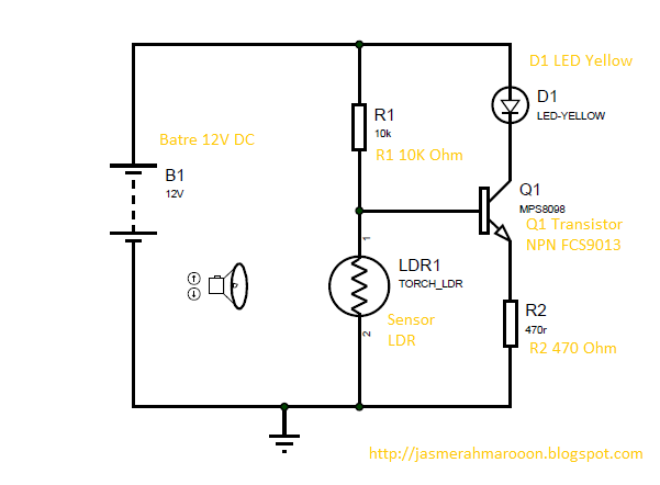 membuat sensor cahaya sederhana