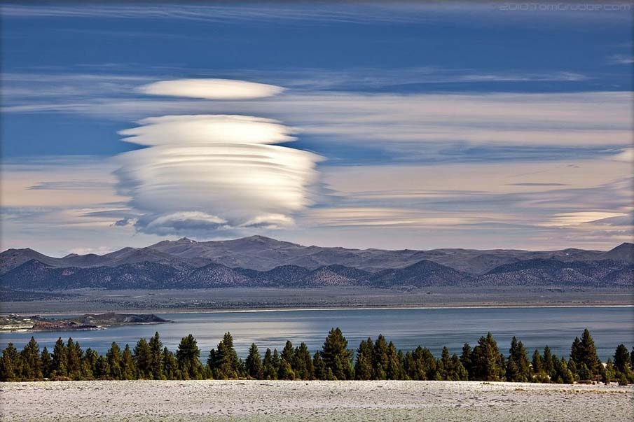 Invaded, lenticular clouds