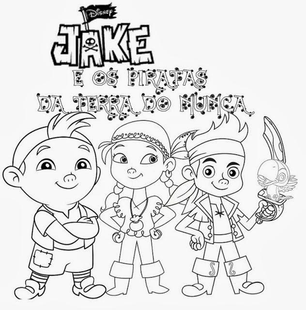 Jake E Os Piratas Da Terra Do Nunca Para Colorir E Imprimir Desenhos