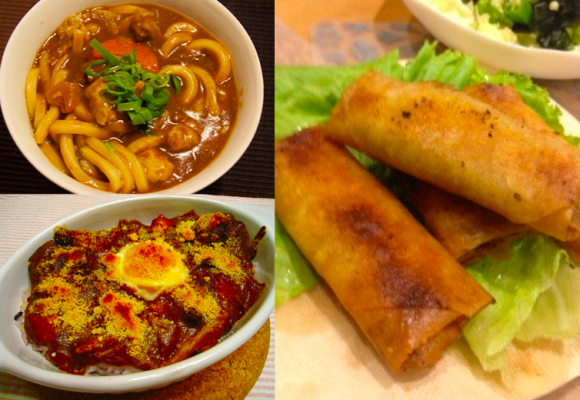 Lumpia, udon, dan masakan jepang lain