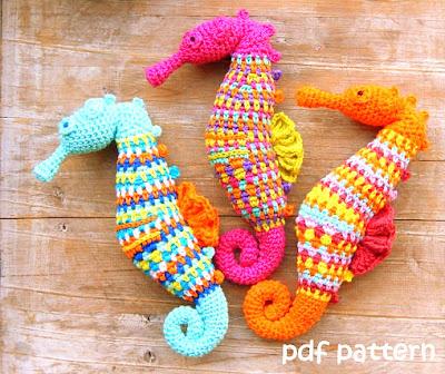 amigurumi crochet sea horses