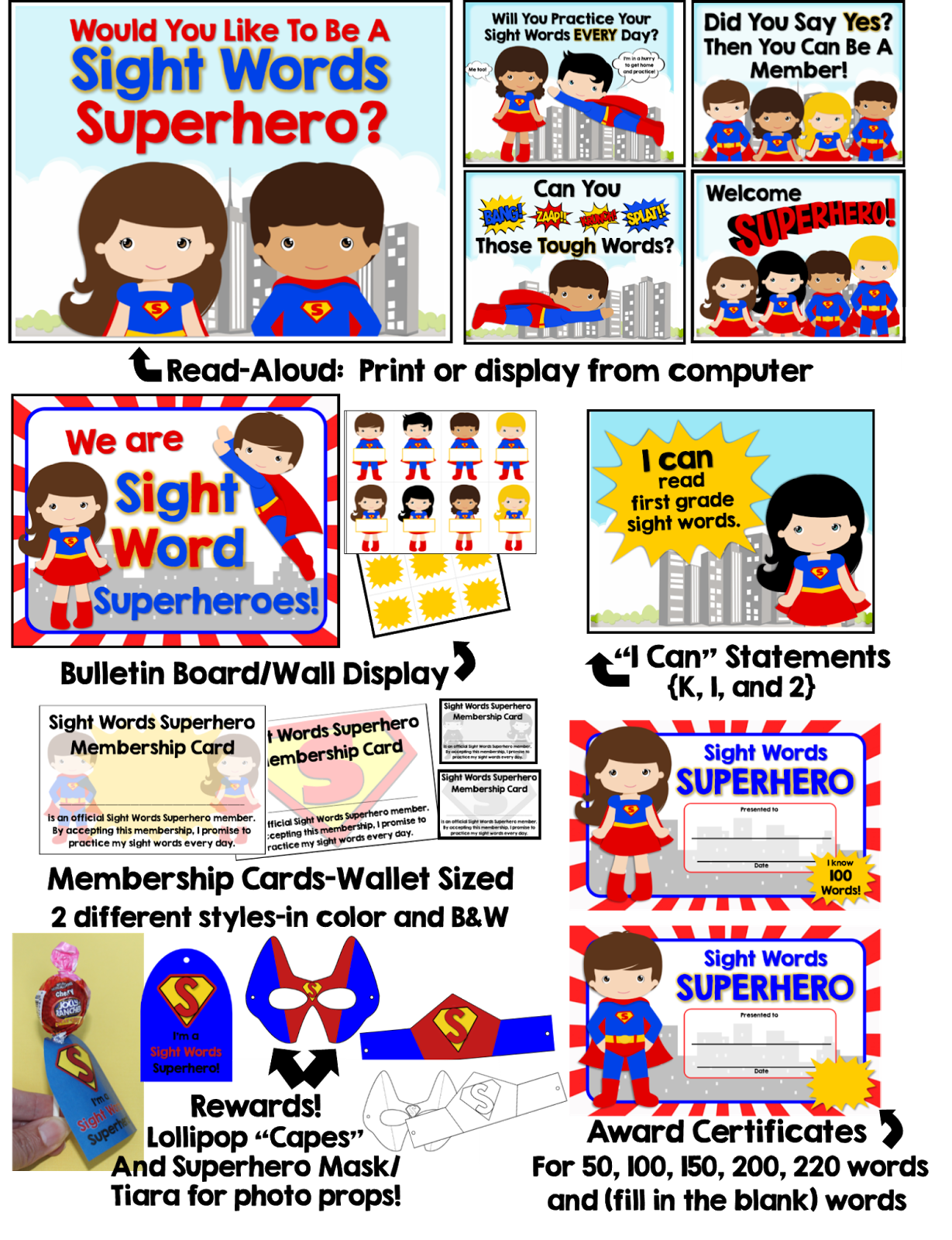 Woo Hoo Sight Word Superheroes