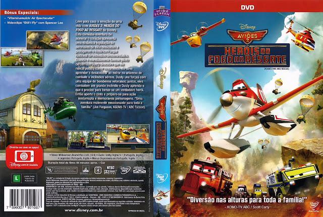 Capa DVD AVIÕES 2 HERÓIS DO FOGO AO RESGATE