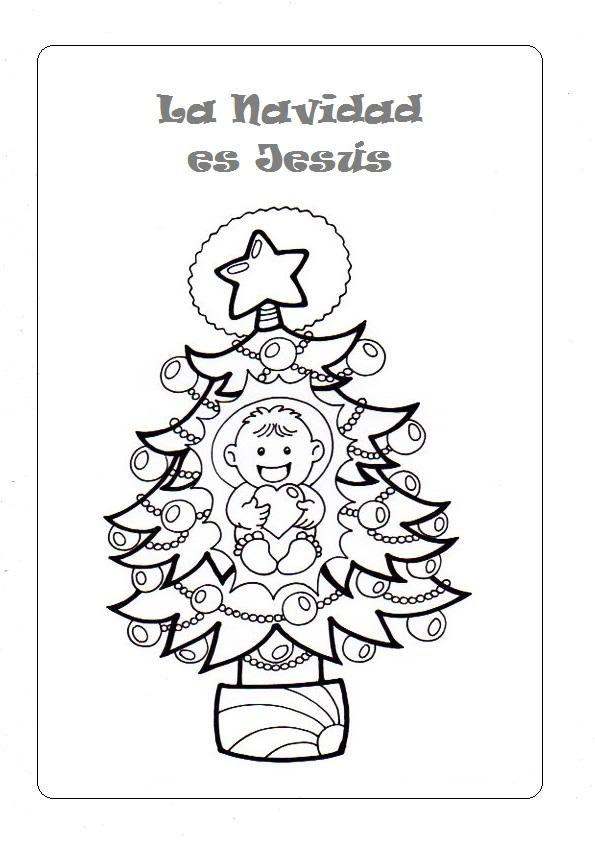 Dibujos De Navidad Con Jesus.El Rincon De Las Melli Dibujo La Navidad Es Jesus