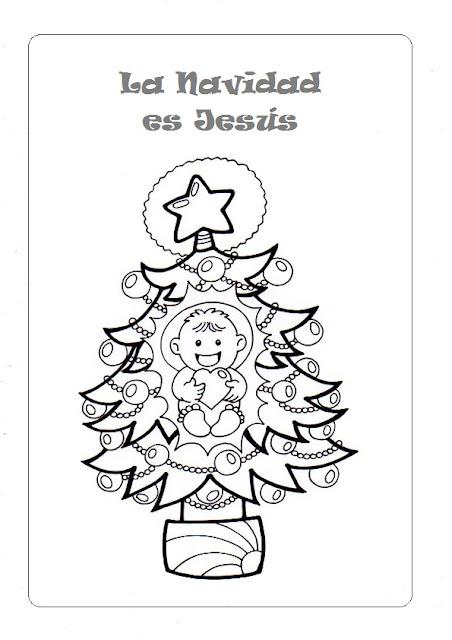 PARA COLOREAR: La Navidad es Jesús