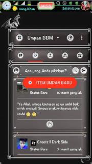 BBM MOD Black Dragon Style Extra Fitur V3.1.0.13 Clone APK Terbaru