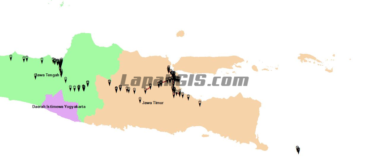 Jalan-Gerbang Tol Jawa-Bali format SHP Shapefile