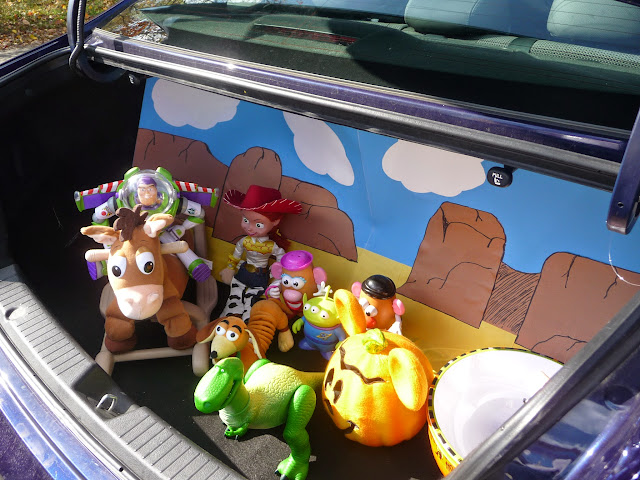 Toy Story trunk-or-treat theme that is simple to make and is enjoyed by children of all ages,