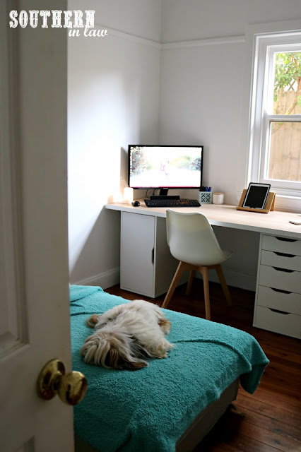 Spare Bedroom to Home Office Makeover Project - Before and After Room Reveal