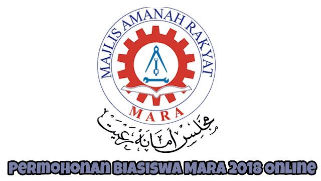 Permohonan Biasiswa MARA 2018 Online