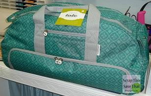 dfe0256d94 Teal Silhouette Cameo Tote bag