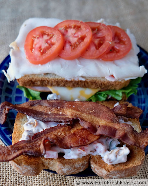 how to make a triple bacon club sandwich with bacon basil tomato mayo