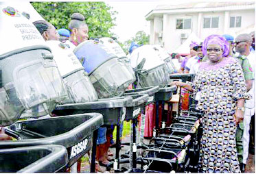 Abia @GovernorIkpeazu's wife equips 44 skills acquisition graduates