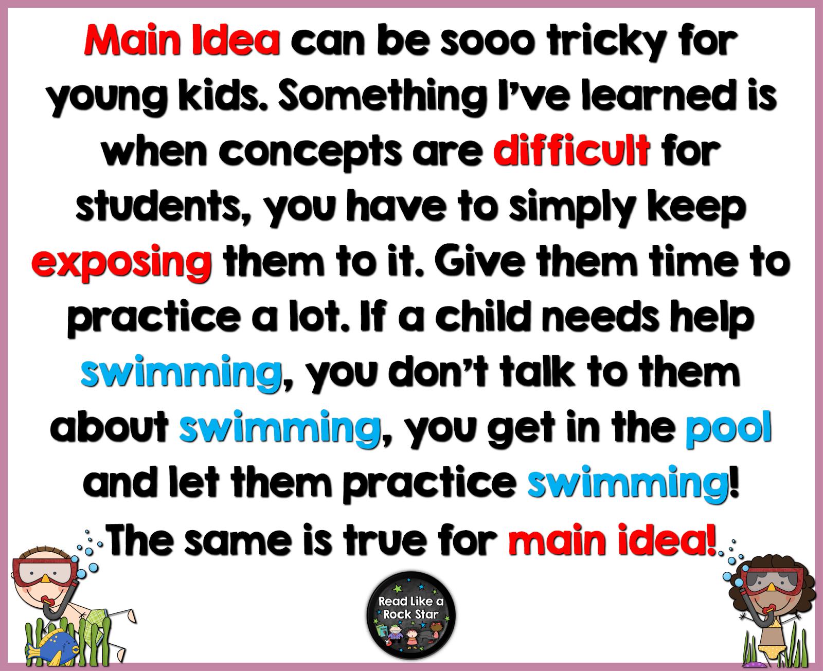 Primary Chalkboard Teaching Main Idea To K 2 Students