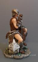 modellini personalizzati guerra guerrieri fantasy scheletro drago elmo con corna orme magiche
