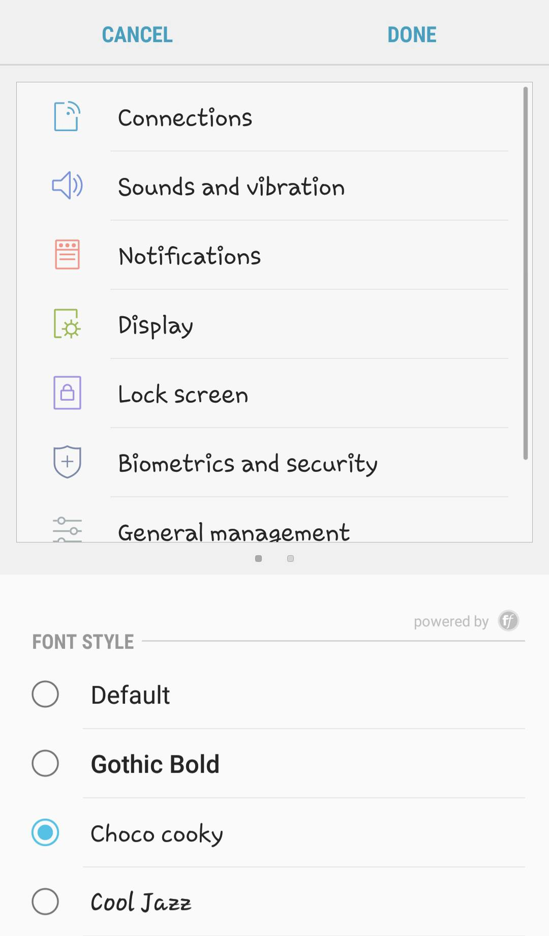 Change Android fonts using built-in feature