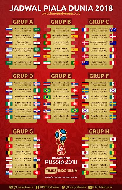 Jadwal Piala Dunia 2018 - Siaran Langsung Trans7 dan TransTV