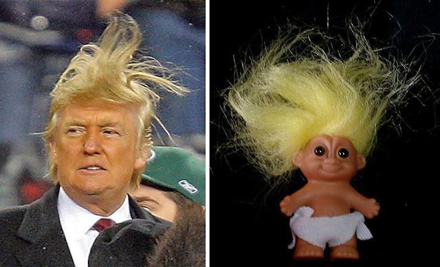 Donald Trump y un Troll
