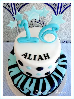 fondant cake zebra