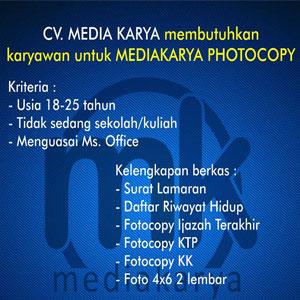 Lowongan Kerja CV Media Karya
