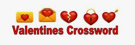 Valentines Crossword For Kids