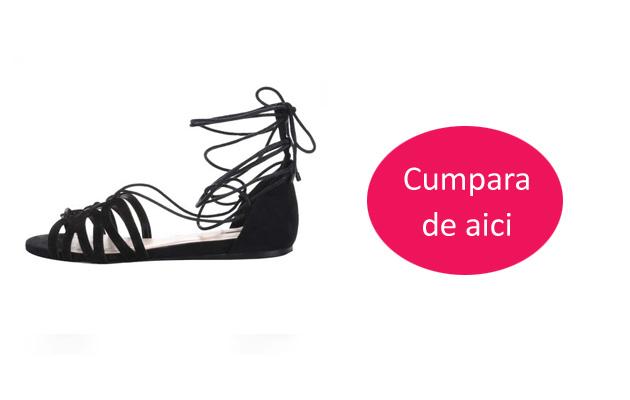 Sandale negre talpa joasa piele naturala intoarsa ALDO Elireven