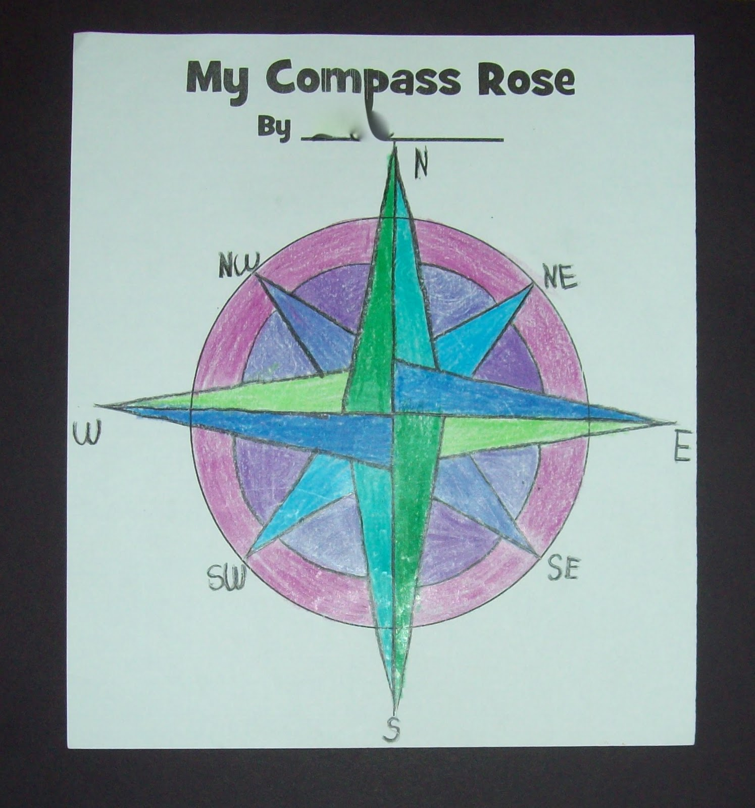 Me And My Third Grade Gang Compass Rose Fun
