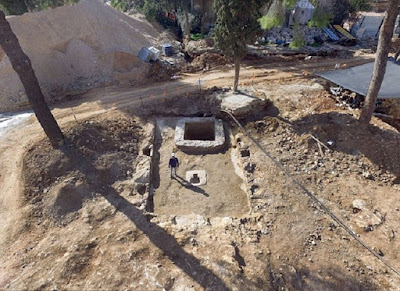 Large Roman winery, baths exposed in Jersusalem