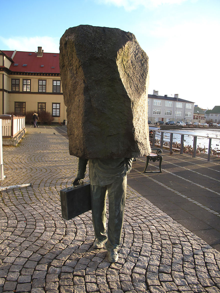 42 Of The Most Beautiful Sculptures In The World - The Unknown Official, Reykjavik, Iceland