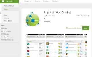 Cara mencari aplikasi paling baru menggunakan Appbrain App Market
