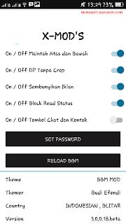 BBM X-Mod Black Gratis v3.0.0.18 Apk Terbaru 2016