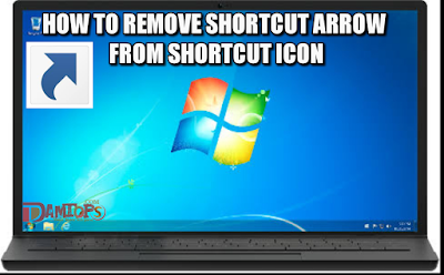 How to remove shortcut arrow from desktop icon
