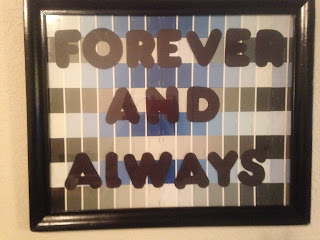 Diy Quote Wall Art Using Paint Chips Call Life Crazy