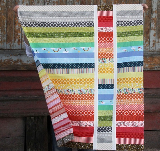 Strip and Flip baby quilt tutorial by Cluck Cluck Sew