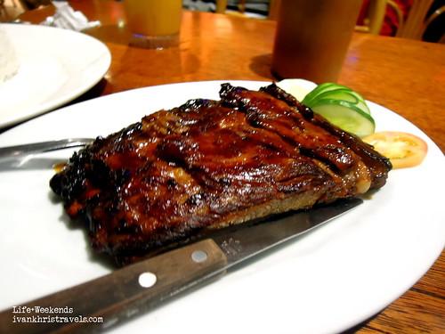 Ribs barbecue at Kinabuchs Bar and Grill in Puerto Princesa City