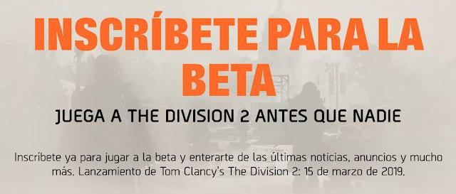 The Division 2 bate récords con el registro para la beta