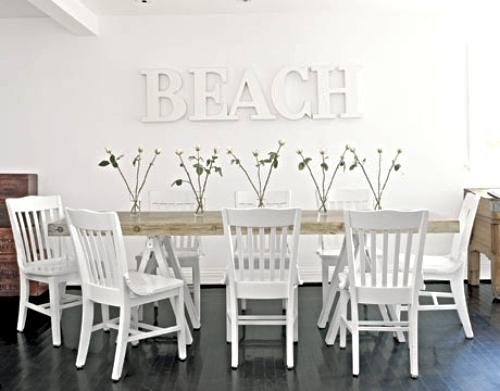 Coastal Accent Wall Dining Room