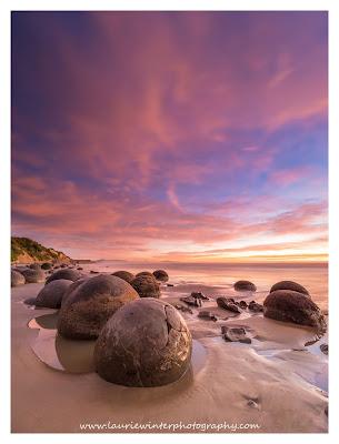 Sunrise, Moeraki, Boulders, Oamaru
