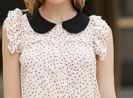 coat or blouse that fastens around or frames the neck Different Types of Collars for Dresses