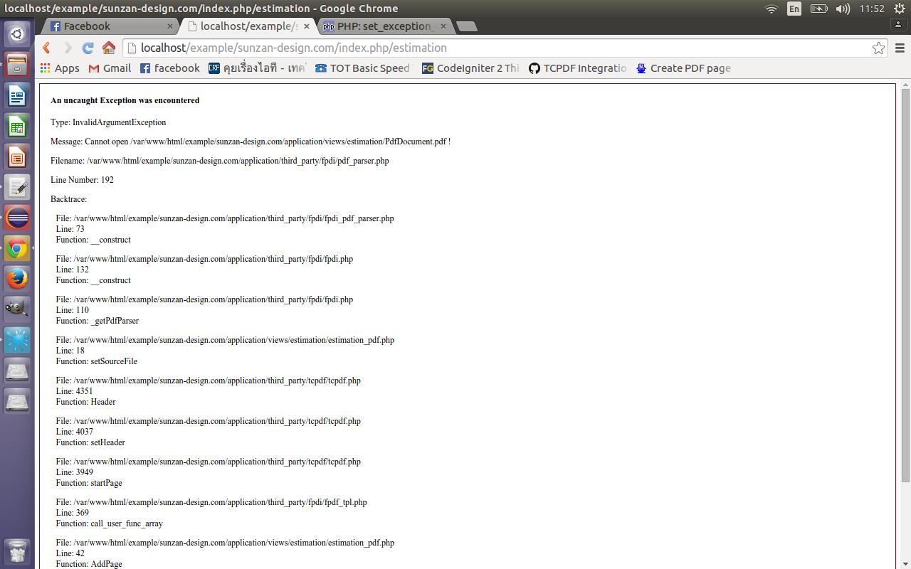 ทดลองใช้ FPDI อ่านไฟล์ PDF แล้วเกิด An uncaught Exception