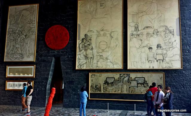 TRabalhos de Diego Rivera no Museu Anahuacalli, Cidade do México